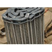 Quality Stainless Steel Wire Mesh Conveyor Belt With Chain Smooth Surface for sale