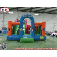 Buy cheap Blue / Green PVC Tarpaulin Inflatable Fun Park Angry Birds Theme from wholesalers