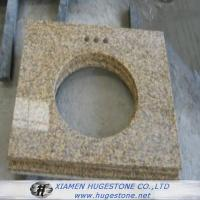 Quality Beige Sink Countertops, Yellowish Granite Sink Table Tops for sale