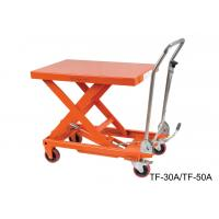 China Hydraulic Compact Manual Scissor Lift Table High Capacity For Assembly Line on sale