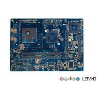 China Medical ECG Device PCB Circuit Board Multilayer With Blue Solder Mask on sale