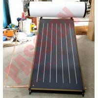Quality 200L 150L Household Flat Plate Solar Thermal Water Heater, Blue Titanium Solar Collector for sale
