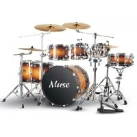 Buy Professional Lacquered Birch Wood 7 Piece Adult Drum Set With Remo Drumhead at wholesale prices