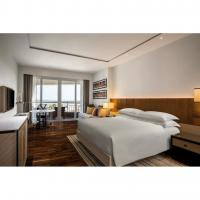 Buy cheap Modern Hotel Bedroom Furniture Sets Solid Wood + Plywood + Fabric + Foam from wholesalers