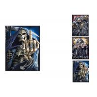 Quality 3 Images Scary Skull Heads 3D Lenticular Flip 30x40cm For Home Decoration for sale