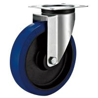 Quality Swivel Plate Industrial Caster Wheels With Sheet Metal Bracket Roller Bearing for sale