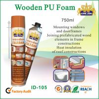 Quality 750ml Expanding Spray Foam Insulation / PU Waterproof Foam Sealant For Mounting for sale