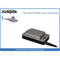Quality Lightweight HD UAV Video Transmitter 20km Wireless COFDM UAV Link with Battery for sale