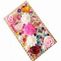 Quality Crystal sticker/bling sticker/rhinestone sticker for iPhone 4, OEM orders are welcome for sale