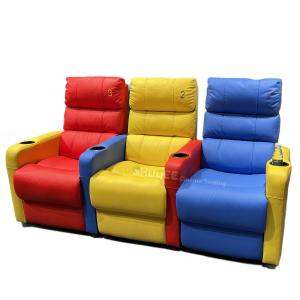 Quality 3D Colorful Home Cinema Sofa VIP Leather Theater Seat With Electric Recliner for sale