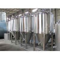Quality Dish Top Stainless Steel Conical Fermentation Tanks 2 - 5mm Thickness for sale