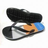 China Women's Flip Flops with Soft Rubber EVA Upper and Two-color Outsole on sale