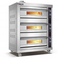 Quality Gas Deck Oven 3 Deck 6 Trays All Stainless Steel Body Gas Deck Oven FMX-O37CH for sale