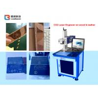 Quality Plywood / Rubber / Sporting goods Laser Marker Machine with Synrad Laser Source for sale