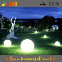 Quality garden decoration LED plastic light  balls outdoor events balls 16 colors for christmas  decoration for sale