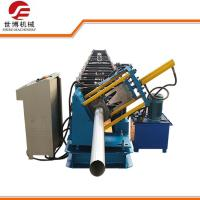 Quality Seamless Round Gutter Downspout Roll Forming Machine / Steel Pipe Making Machine for sale