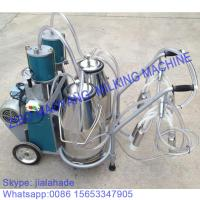 Quality For Russia market,Piston Typed Double Buckets Mobile Milking Machine,small portable milking machine for cow and goat for sale