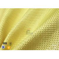 Quality 1500D 305gsm Yellow Kevlar Aramid Fabric For Bulletproof Vest TDS Approval for sale