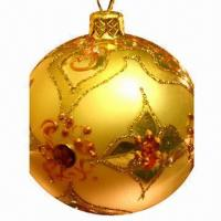 Quality Plastic Ball Ornaments, Suitable for Christmas Tree Decorations, with Hand Drawing Graphics for sale