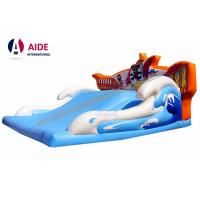 Quality Wide Children Blow Up Water Slide , Childrens Outdoor Playsets With Pirate Logo for sale
