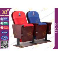 Quality East African Vintage Auditorium Church Hall Chairs With Embroidered Logo On Back for sale
