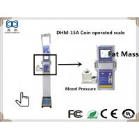 China DHM-15A Human BMI ,Blood Pressure ,Heart Rate and Themometer Analysis Instrument with height and weight Machine on sale