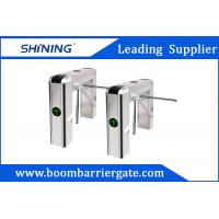Quality 100W LED Display Waist Height Tripod Turnstile Gate With Tubular Bumper for sale