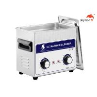 Quality JP-020 Medical Ultrasonic Cleaner , 120W Ultrasonic Parts Washer 3.2L Mechanical Knob for sale