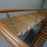 Quality Wood Handrail Stainless Steel Rod Railing for Staircase Design for sale