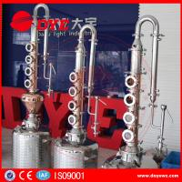 Quality reflux vodka distiller 6plates copper column distill equipment home alcohol distillers for sale