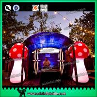 Quality Attractive 3m Inflatable Mushroom LED Lighting 190T Nylon For Engagement for sale