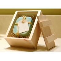 Natural Style Custom Wood Serving Tray , Rectangular Serving Tray With Lid