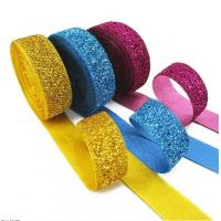 China Gift Packaging Metallic Glitter Ribbon Multi Color Customized Width on sale