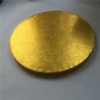 Quality 14 Inch Round Cardboard Cake Boards, Round Cardboard Cake Plates/ Circles Foil Wrap for sale