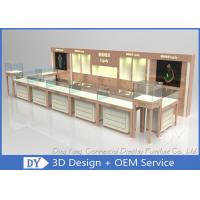 Quality Nice Beige Jewellery Counters Showcases / Jewellery Showcase Design for sale