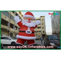Quality Custom Height Inflatable Holiday Decorations , Outdoor Inflatable Santa Claus for sale