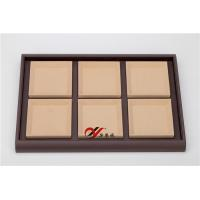 Quality Eco-friendly Jewellery Display Trays 6 Grid Removable Microfiber Pad Pu Leather Coverd for sale