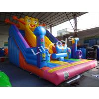 Buy cheap 0.55 Mm Plato Pvc Customized Size Spongebob Attractive Big Inflatable Slide from wholesalers