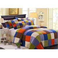 Quality Hand Sewing Colorful Patchwork Twin Size Bed Sets 4 Pcs Machine Wash for sale
