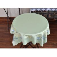 Quality Chemical Fiber Light Green Table Cloth , Embroidered Square Table Cloths for sale