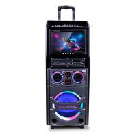 Quality Small Portable Bluetooth Trolley Speaker With Disco Light / Led Display for sale