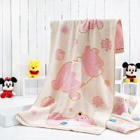 Quality Winnie Loops Dyed Disney Beach Towels Pink Color With Dobby Border for sale