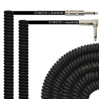 Buy CE Audio Link Cable , 20 Foot Curly Guitar Instrument Cable Right Angle 1/4 Inch TS to Straight at wholesale prices