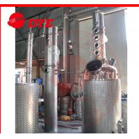 Quality 100gal Gin spirit alcohol distiller with red copper distillation column plates for sale