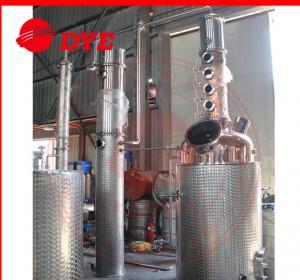 Quality 500L Semi-Automatic Copper Distillation Column , Vodka Distillation Kit for sale