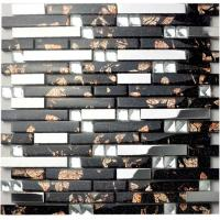 Quality Diamond Crystal Glass Bathroom Backsplash Tile Blend 304 Stainless Steel Sheet for sale