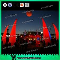 Quality New Design Holiday Events Decoration Inflatable Cone LED Lighting Inflatable Pillar for sale