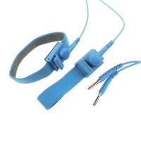Quality 10ft Long 10mm Snap 2.4 Meter Coil ESD Wrist Straps for sale