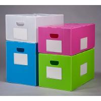 Quality Polypropylene pp Corrugated Plastic Foldable Moving Box Plastic handle corrugated paper packing box for sale