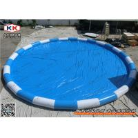 Quality Giant Inflatable Swimming Pools / Strip Color Water Pools for Children for sale